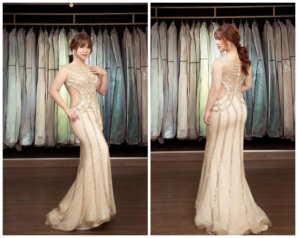 JOJO婚紗攝影-金色晚禮服2