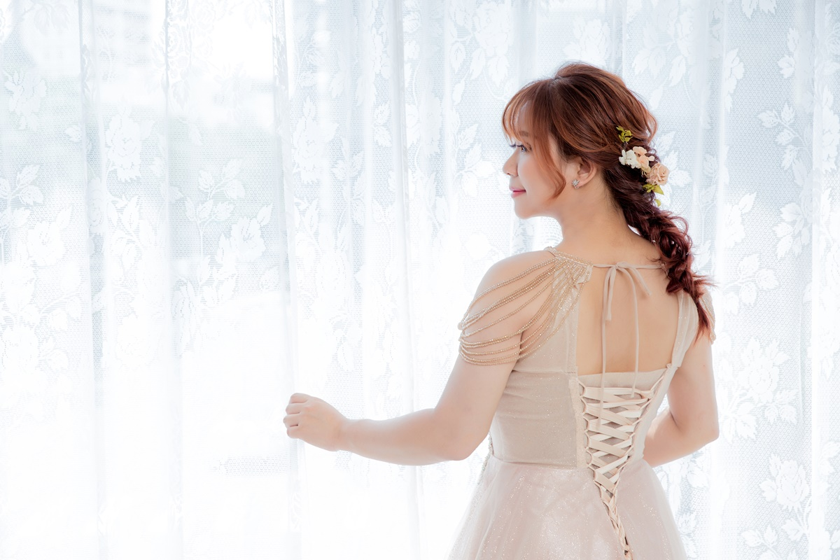 JOJO婚紗攝影-削肩晚禮服3