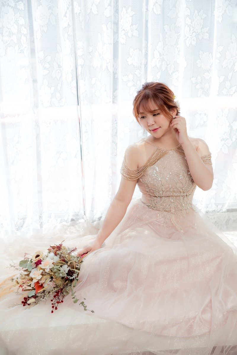 JOJO婚紗攝影-削肩晚禮服4
