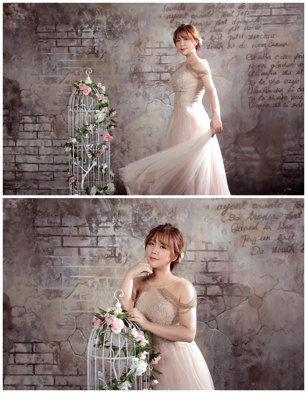 JOJO婚紗攝影-削肩晚禮服5